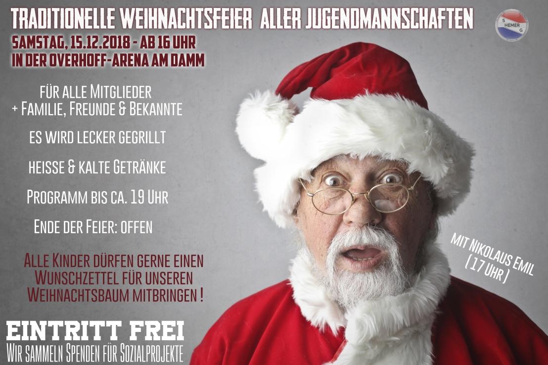 Artikel Weihnachtsfeier.Traditionelle Weihnachtsfeier Aller Jugendmannschaften 15 12 18